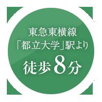 東急東横線「都立大学」駅より徒歩8分
